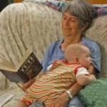 Granny babysitting