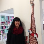 Tracy Paul and her giraffe.