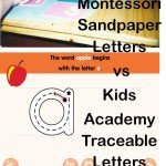Montessori Sandpaper Letters  vs Kids Academy Traceable Letters Review by a Montessori teacher