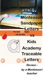 Sandpaper letters vd Kids Academy App