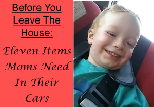 essentials for moms to have in their car