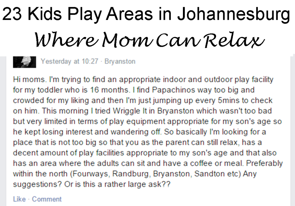 23 places to take your kids in joburg while you relax