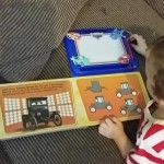 etch a sketch with cars