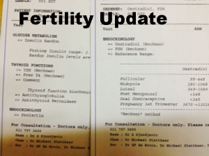 update on my fertility journey