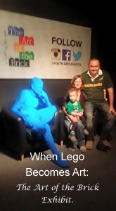 our trip to the art of the brick exhibit in Johannesburg