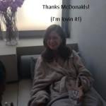 I Got Pampered… Thanks McDonalds! (I'm lovin it!)