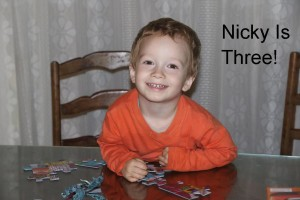 toddler with puzzle