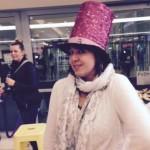 Stacey Vee in big hat