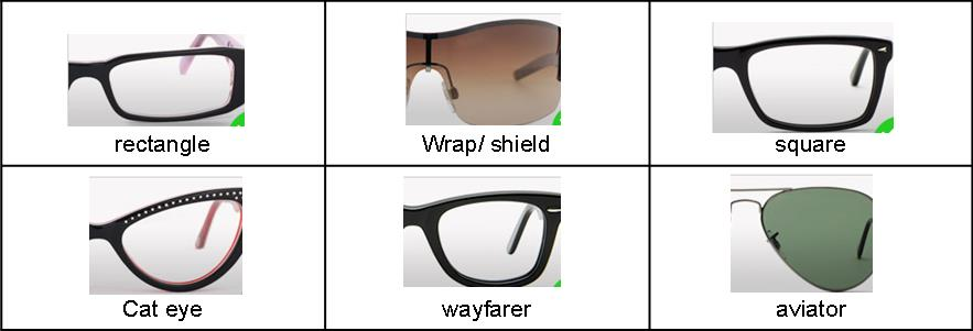 Frames suitable for round or square faces.