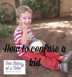 eating dirt confuse a kid