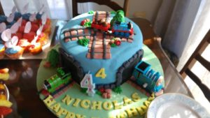 thomas cake with tunnels