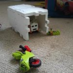 Nicky's creativity with his toys