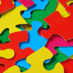 scattered colorful puzzle details